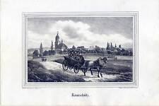 Romschütz - Göhren - Altenburger Land - Thüringen - Lithographie um 1835