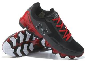 Men's Under Armour Men's UA Scorpio Running Shoes Fashion Black Red Casual Shoes