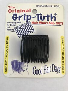 Good Hair Days The Original Grip-Tuth Hair Sidecomb 1 1/2 in., U Pick Color NEW