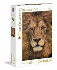 Puzzle Tete de lion ; 500 pièces Clementoni 30230 Lion face