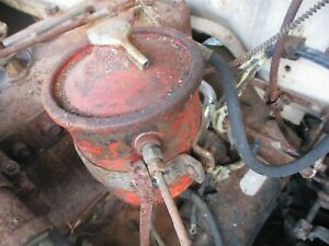 1951 DESOTO OIL FILTER CANISTER WITH CLAMP STRAIGHT 6