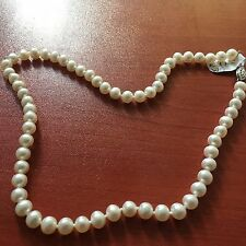 Purity 925 1 Row Pearls Necklace 40cm PUR6140