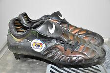 Nike total 90 Zoom Air talla UK 10 EUR 45 Boots rar vintage nuevo SG Shiny Football