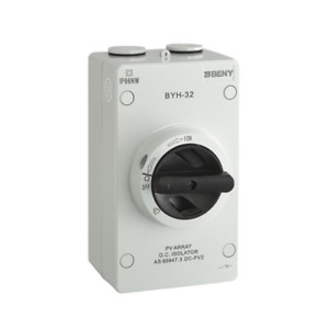 ZJ Beny Solar Isolator - Suits PV DC - 1000V / 32A Rated - IP66 - 4 Pole