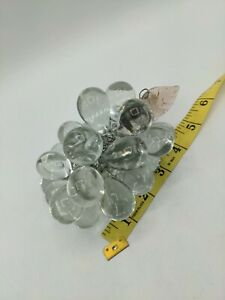 Vintage Hand Made Clear Glass Grapes Bunch