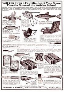 1929 Vintage ad Prizes Arbogast Tin Liz Creek Chub Eswing Axes Knives