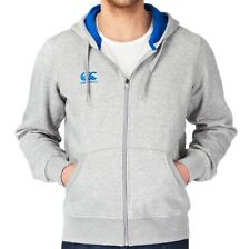 Mens Canterbury Hoodie Full Zip Grey Marl Embroidered Logo Size S