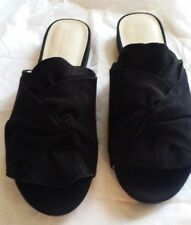 KENNETH COLE Reaction Women's VANYA 7.5 BLACK SUEDE Sandal Size 7 FREE SHIPPING!