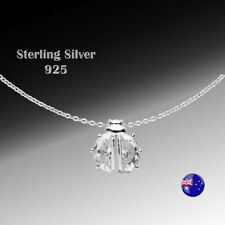 ONE Sterling Silver(925) Ladybug with CZ Desinger Necklace Pendant for Girl