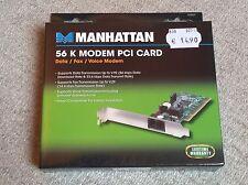 MANHATTAN 56K Modem PCI Card Data / Fax / Voice Modem, Neu & OVP (1/2)