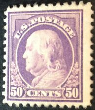 USA 1909 50 Cent lilac stamp mint hinged