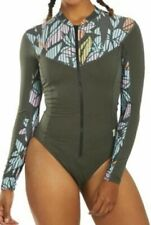 O'Neill Style #5408S Womens One Piece Long Sleeve Surf Suit 8 Dark Olive NEW