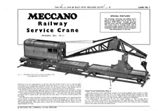 Meccano Model Plan 10.1 Railway Service Crane