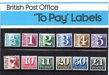 GB Presentation Pack 93 1997 POSTAGE DUE TO PAY FULL PACK OF 12 10% off 5