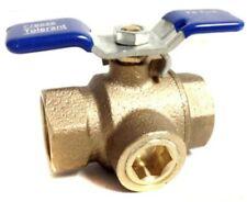 "Irrigation Sprinkler 3/4 "" Ball Valve w Freeze Tolerant Prevention Plug 3/4"""