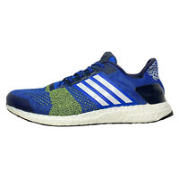 Adidas Ultra Boost ST BA7837 Men's Size 11 Blue Solar Yellow Shoes Sneakers
