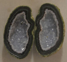 Tabasco Geode 1 Pair Cut and Polished Great for Jewelry