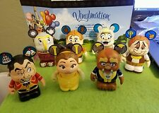 "Disney Vinylmation 3"" Park Set 2 Beauty and the Beast Set of 7 No Chaser"
