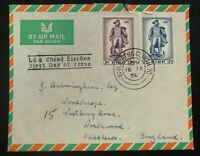 1956 Dublin Ireland First Day Cover FDC To Northwood England John Barry