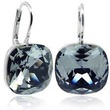 Ohrringe mit Kristalle von Swarovski® Silber Schwarz NOBEL SCHMUCK