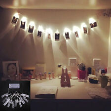 1.2M 10 LED Peg Clip Hanging Photo Picture Fairy String Light Bedroom Room AU