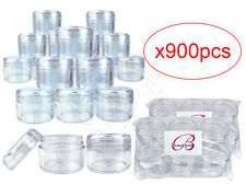 900 Pieces 30G/30ML Round Clear Sample Jars with Clear Round Top Screw Cap Lids