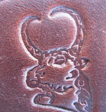 Custom Engraved Metal Alloy Leather Stamp Press Tool - Bull