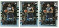 2017-18 Optic Karl-Anthony Towns Holo Prizm Refractor Card Lot x 3 Timberwolves