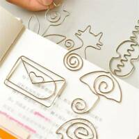 5 Pcs Cute Metal Paper Clips Pin Bookmark Memo Office School Stationery Tools