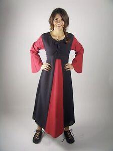Mittelalterkleid rot / schwarz Gewandung Kleid Larp S M L XL XXL XXXL bordeaux