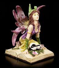 ELFES Figurine - Myhia genoux sur Livre - Nature Fée Magic Book