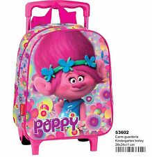 TROLLS Mochila guardería con carro fijo ruedas/ Children backpack trolley