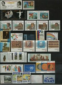Venezuela: 1985-1998, lot of 65 diff. stamps in complete sets mint Nh... VZ0876