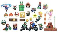 Super Mario Classic Characters Decal Vinyl Stickers Assorted Lot of 29 Pieces