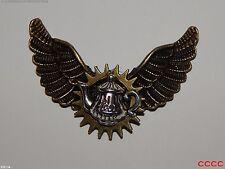 Steampunk brooch badge pin owl wings teapot Alice in Wonderland Harry Potter