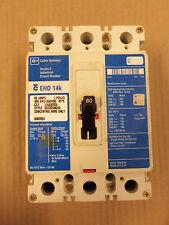 CUTLER HAMMER EHD EHD3080L 3 POLE 80 AMP 600V CIRCUIT BREAKER BLUE FLAWED