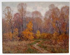 Original Ukrainian Impressionism Realism Oil Painting Landscape Automn Old Big