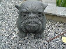 BOXER , statue d un chien boxer , bouledogue  en pierre patinée , nouveau !