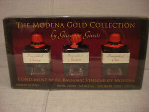 GIUSEPPE GIUSTI GOLD COLLECTION BALSAMIC VINEGAR OF MODENA 3 x 50ML