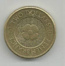 """2012 """" POPPY """"AUSTRALIAN REMEMBRANCE DAY"""" Golden Colour Poppy $2 CIRCULATED COIN"""