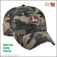 BRAND NEW JOHN DEERE RIPSTOP MATERIAL CAMOUFLAGE CAP CAMO HUNTING HUNTER HAT