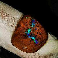 Geschliffen- & Polierter Boulder Opal aus Queensland Australien mit Feuer Blau!