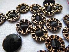 lot 10 cabujones de ex vidrio negro a strasser vintage fabricación de joyería