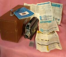Vintage Kodak Cine Magazine 8mm Movie Camera w/ Leather Kodak Case 1942