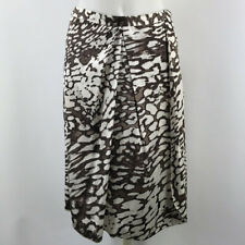 Blumarine Brown And White Print Skirt Size 40/4