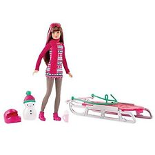 2015 BARBIE SISTERS SLEDDING FUN Target Exclusive Doll Christmas Holiday Winter