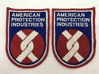 2 American Protection Industries Inc Security Uniform Patches 4.75 x 3.5 (RF997)