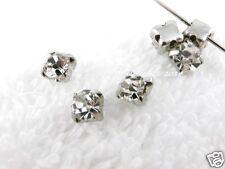 Cristal Piedra Para Coser colores plata biselados Pedrería de strass Aprox.