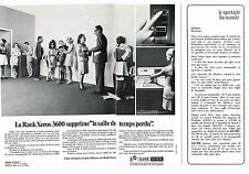 PUBLICITE  1969   RANK XEROX 3600    reprogaphie (2 pages)