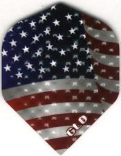 Old Glory American Flag Dimplex Dart Flights: 3 per set